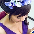 藍色繡球花環