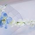 粉藍大飛燕花環