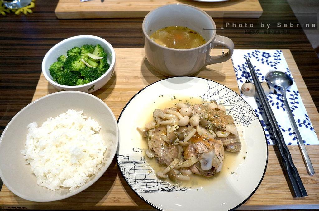 9.白酒菌菇炒雞翅套餐