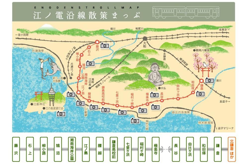 江之電沿線圖