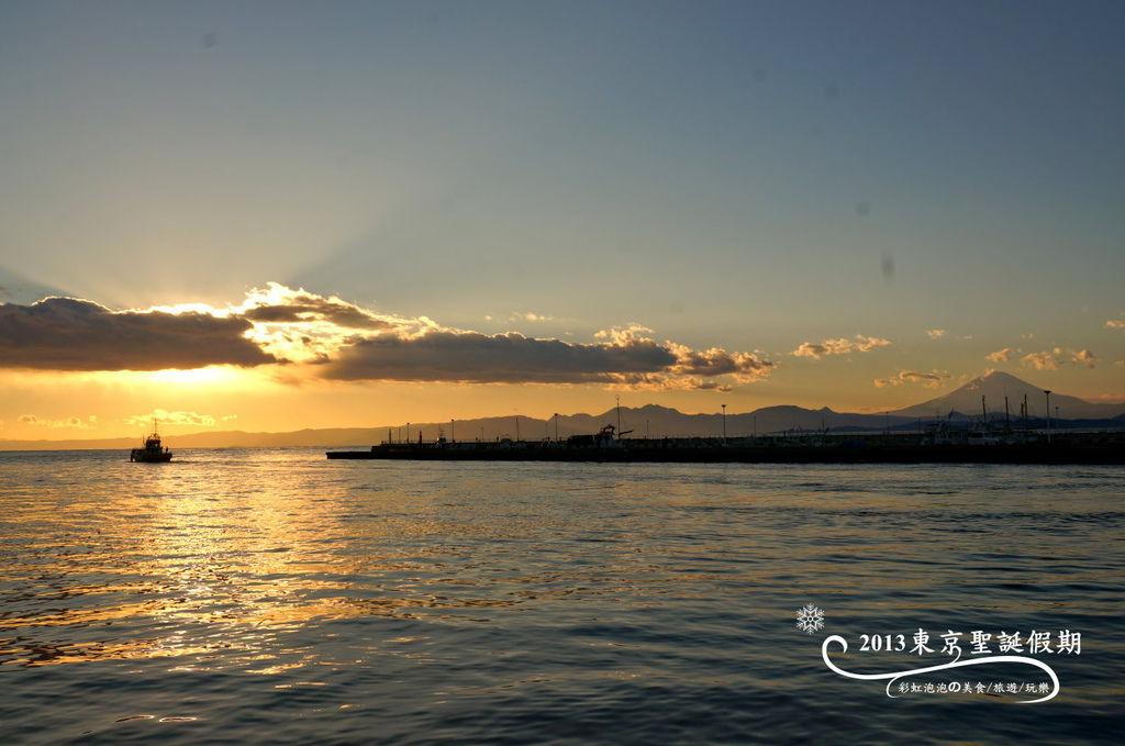 245.富士山、江之島夕陽