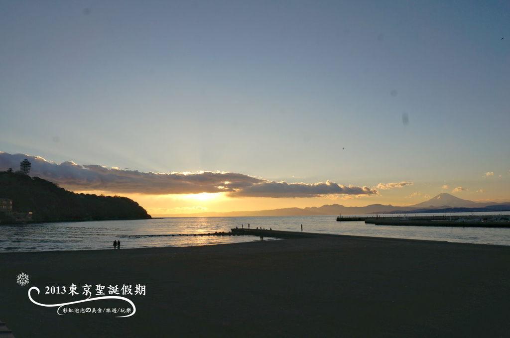 247.富士山、江之島夕陽