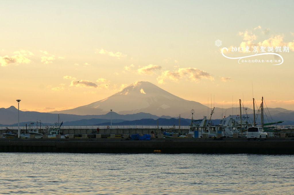 243.富士山、江之島夕陽