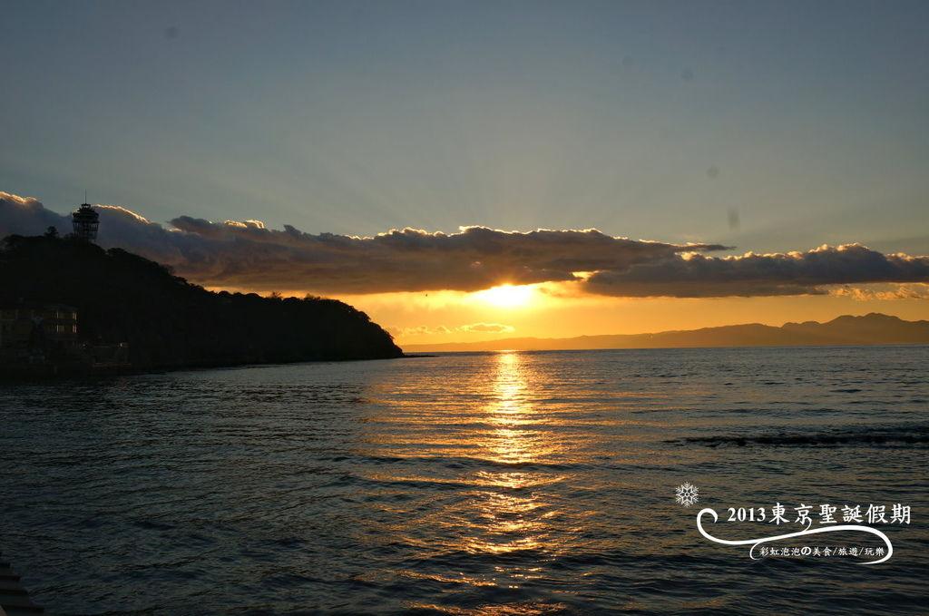 252.富士山、江之島夕陽