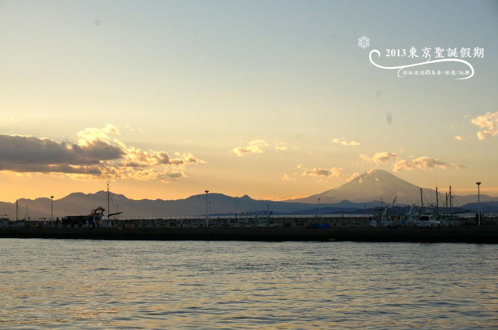 242.富士山、江之島夕陽