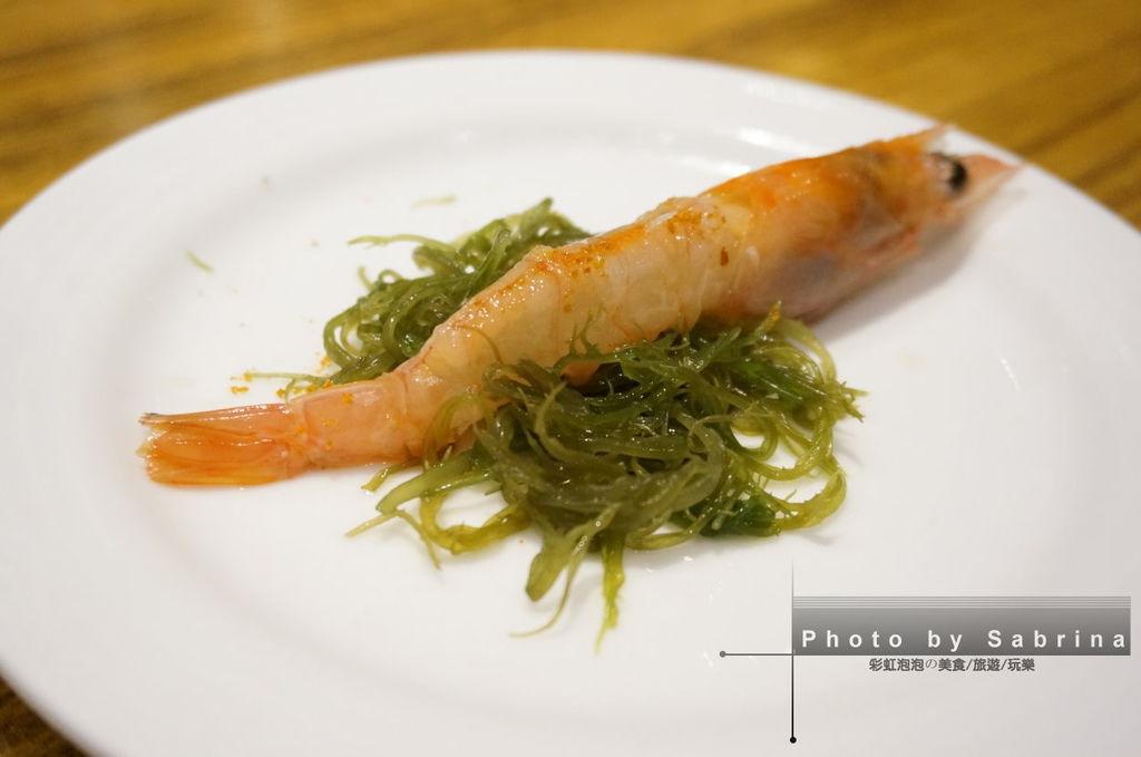 36.K2小蝸牛-生鮮甜蝦佐西西里特級產區(Monti lblei)橄欖油