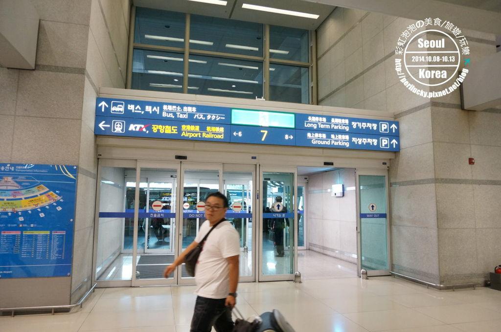 olleh WiFi仁川機場領取處-仁川機場7號門旁