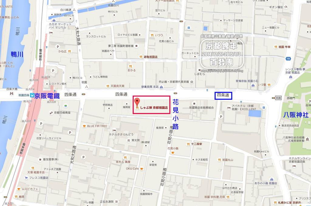 24.Shabuzen-京都四條通地圖