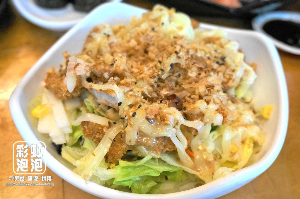99.樂屋日本料理-日式豬排沙拉.jpg