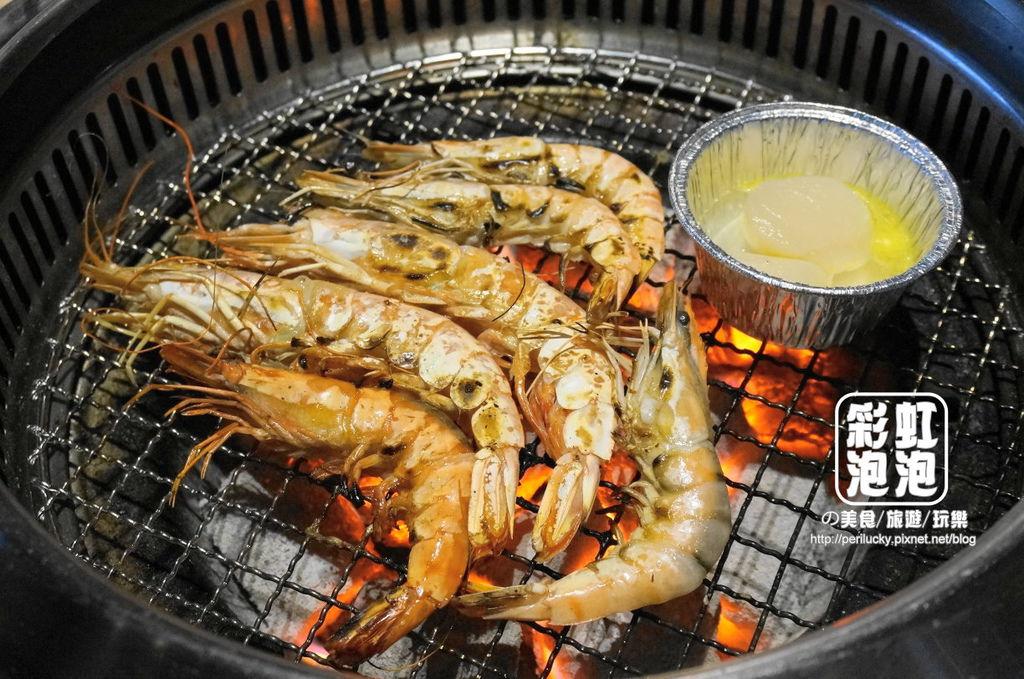 36.熊炭日式炭火燒肉-草蝦、紅蝦、干貝.JPG