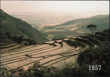何普1957年天母山上拍台北朋盆地