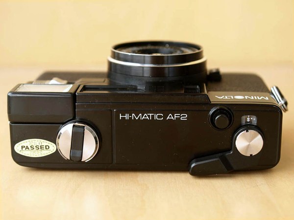 Minolta Hi-Matic AF2 上蓋一覽