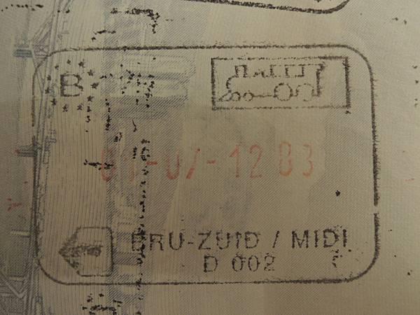 20120701 布魯塞爾火車簽證.JPG