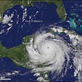 Dean颶風的衛星影像