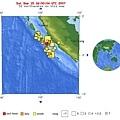 USGS印尼地震分布圖Sep 15, 2007