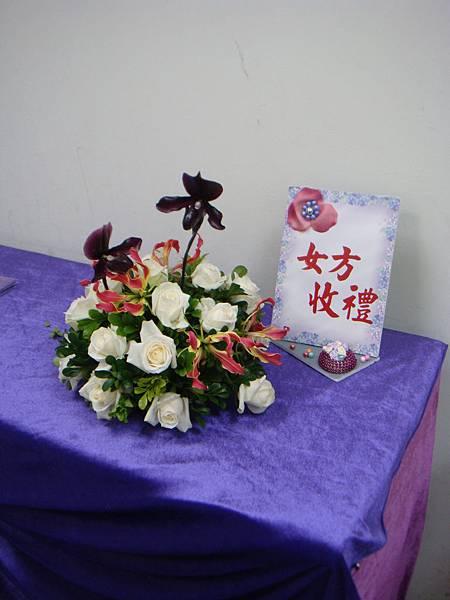 李清海花藝教室-婚禮佈置課程-收禮桌佈置 (9).JPG