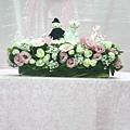 證婚儀式佈置-講桌花