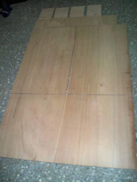 木心板裁切后木板