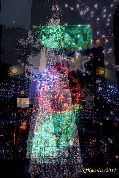 2011.12.17 新北市政府前全台最高耶誕樹周遭街景02