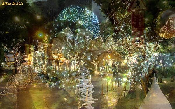 2011.12.10 台北遠企飯店耶誕街景影像重疊01.jpg