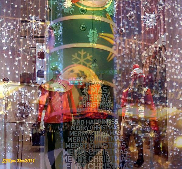 2011-12-24台北 Sogo百貨耶誕夜周邊街景影像重疊02.JPG
