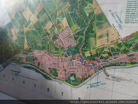Auvers 旅遊地圖1