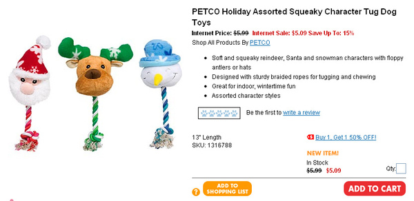 PETCO Holiday Assorted Squeaky Character Tug Dog Toys  page.jpg