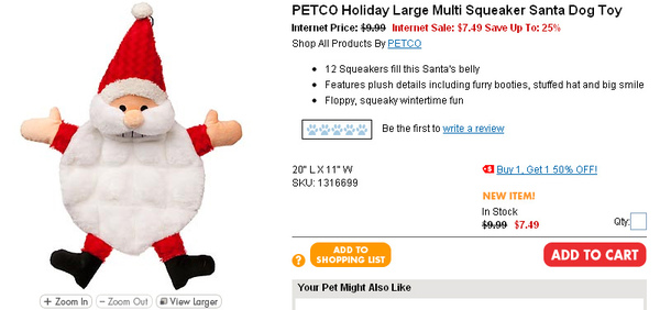 PETCO Holiday Large Multi Squeaker Santa Dog Toy  page.jpg