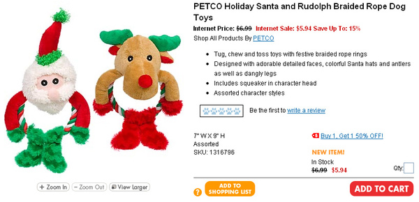 PETCO Holiday Santa and Rudolph Braided Rope Dog Toys.jpg