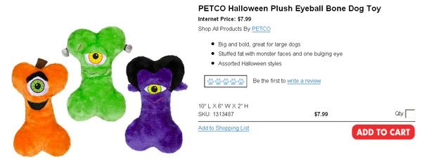 PETCO Halloween Plush Eyeball Bone Dog Toy.jpg