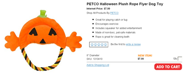 PETCO Halloween Plush Rope Flyer Dog Toy.jpg