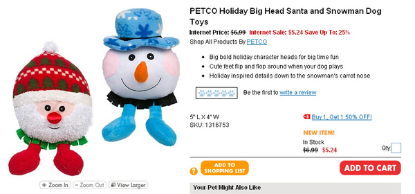 PETCO Holiday Big Head Santa and Snowman Dog Toys  page.jpg