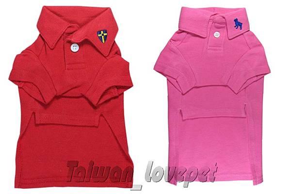 290 紅色粉紅色OLD NAVY POLO衫2