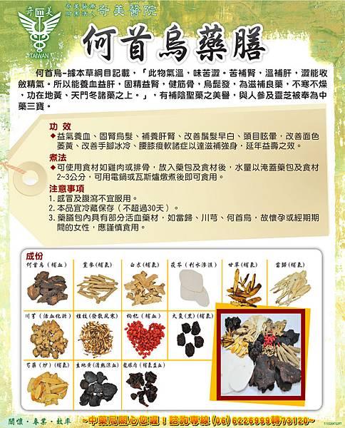 陳惠君-何首烏藥膳10011-小展示架
