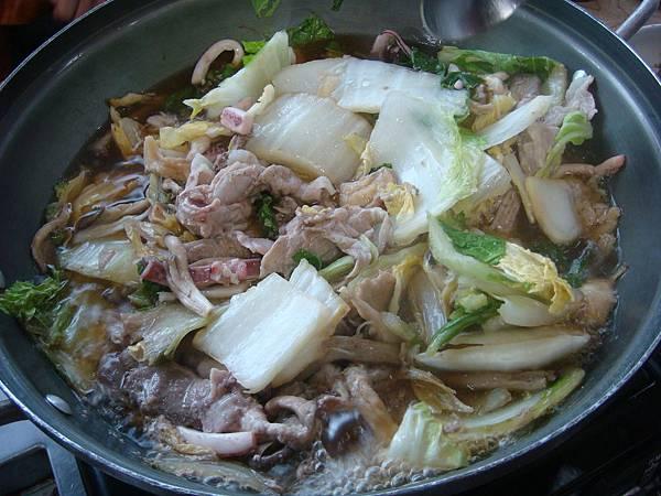 第三天午餐韓式壽喜鍋