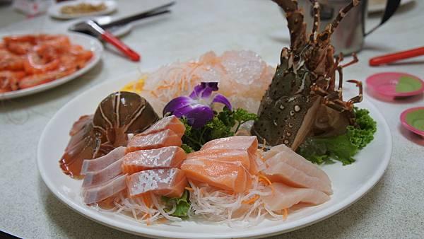 龍蝦沙西米拼沙西米
