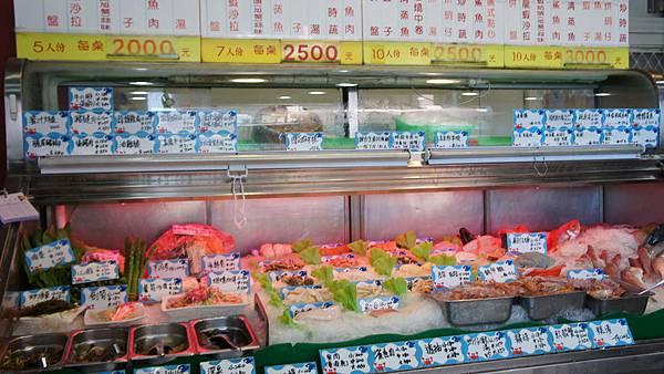 海鮮實品點餐台