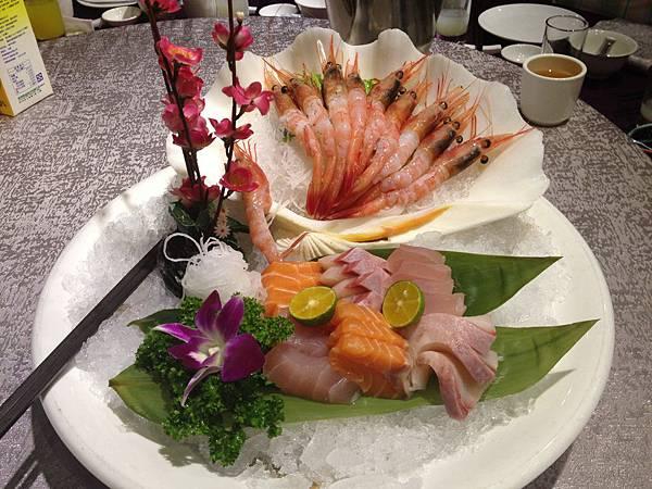 寶盆甜蝦生魚片