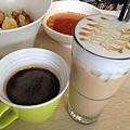 熱美式咖啡&冰焦糖瑪奇朵咖啡