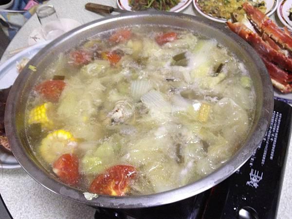 帝王蟹火鍋
