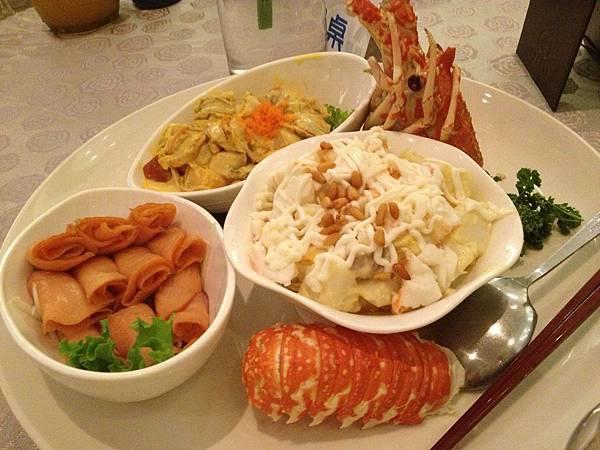 沙律鮮果龍蝦