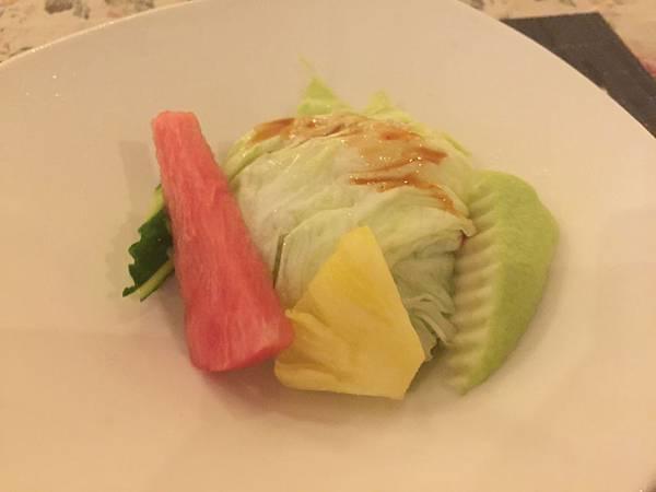 水果生菜沙拉(紫蘇梅醬)
