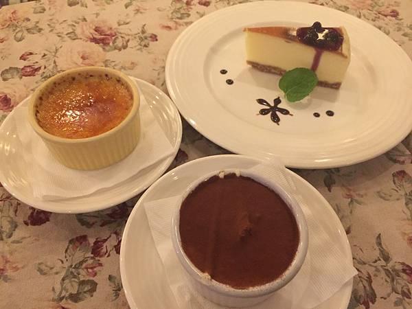 起司蛋糕&提拉米蘇&焦糖布丁