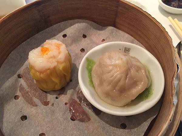 蟹黃明蝦燒賣&北海道帝王蟹腳鮮肉小籠包