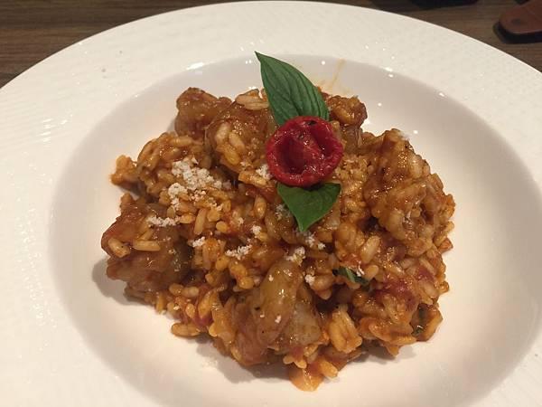 義式蝦仁蕃茄奶油燉飯