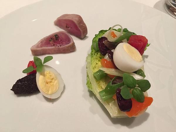 地中海尼斯沙拉-佐鰹魚、迷你萵苣