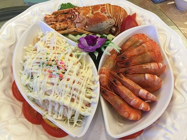 龍蝦沙拉&白蝦