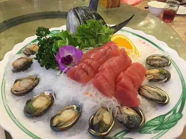鮪魚生魚片&九孔