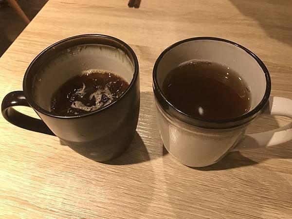 熱麥茶&冰美式咖啡