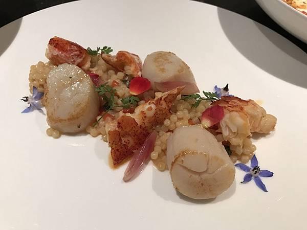 地中海扇貝龍蝦麵